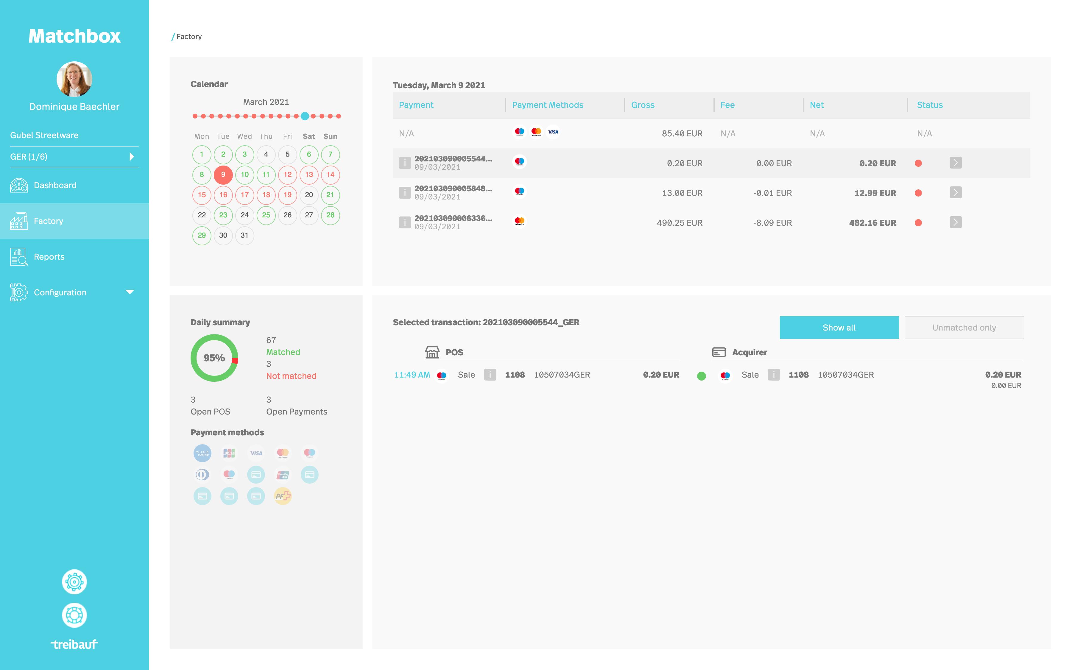 Matchbox Software Payment Analytics Center